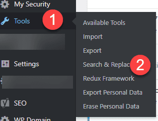 WordPress HTTPS use search and replace