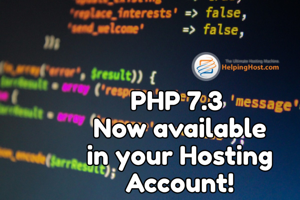 PHP 7.3 hosting now available