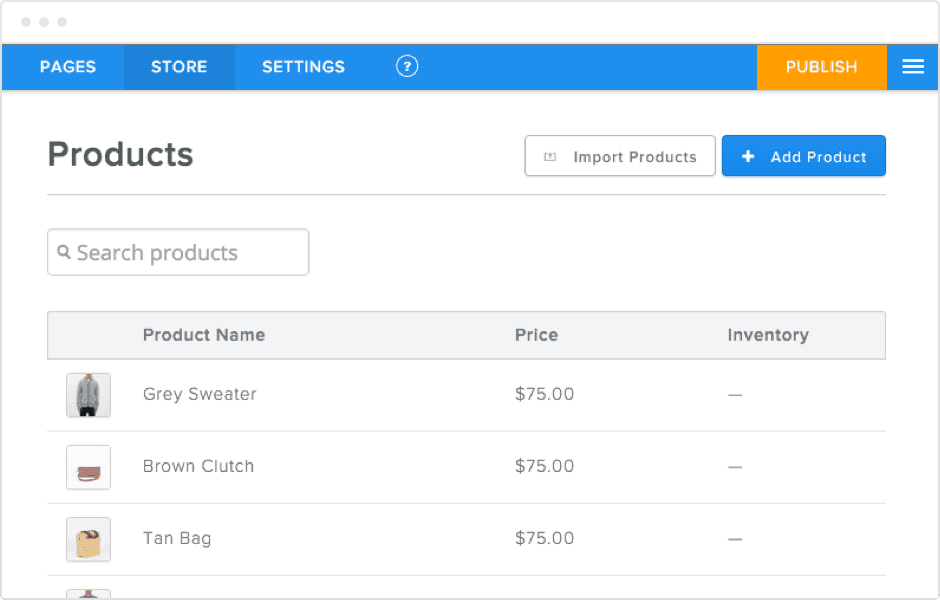 Track inventory with weebly