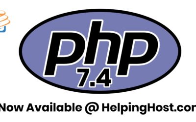 PHP 7.4 is now available.