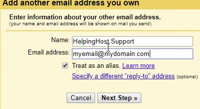 Use Gmail to send email from HelpingHost.com - 4