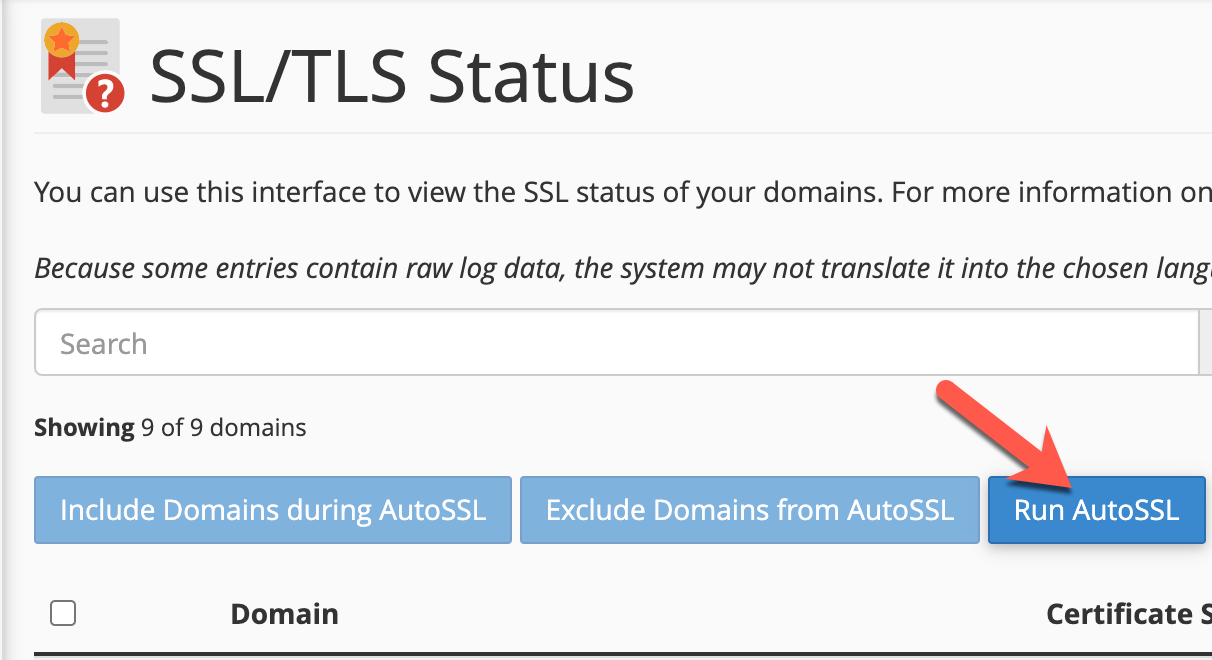 Install your SSL Certificate manually Step 2