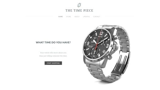 Weebly online store example